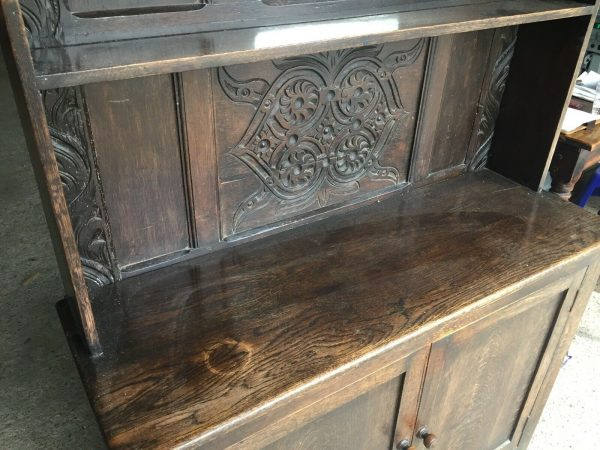 Hand-Made-Oak-Hall-StandDresser-Early-1800-264444695610-12