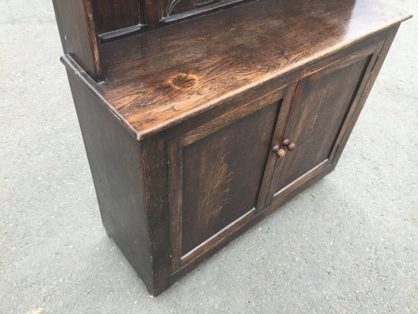 Hand-Made-Oak-Hall-StandDresser-Early-1800-264444695610-2
