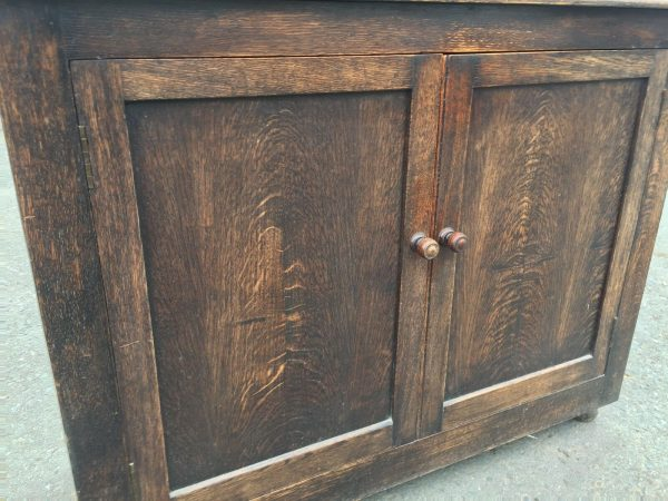 Hand-Made-Oak-Hall-StandDresser-Early-1800-264444695610-6