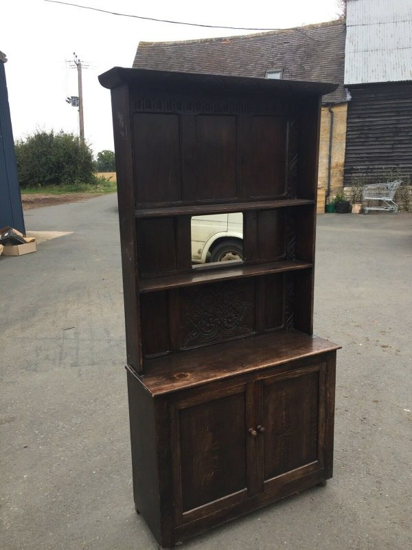 Hand-Made-Oak-Hall-StandDresser-Early-1800-264444695610