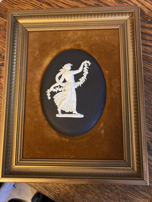 Black-Jasperware-Plaque-Of-Dancing-Hours-Lady-384136833091