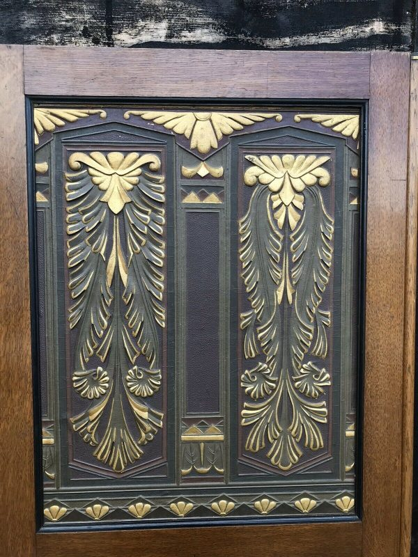Fabulous-Art-Deco-Leather-Oak-And-gold-Screen-264849440221-2