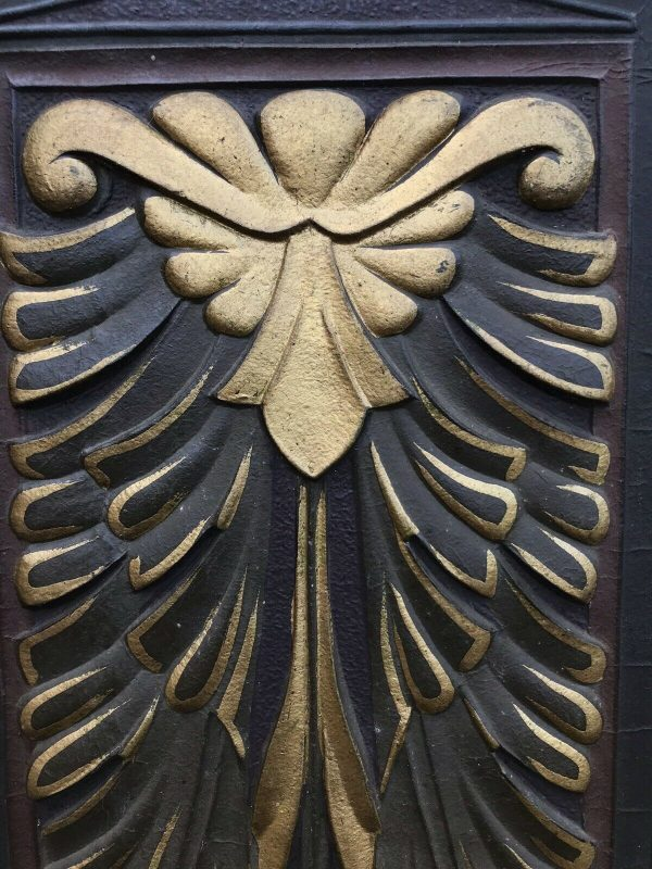 Fabulous-Art-Deco-Leather-Oak-And-gold-Screen-264849440221-3