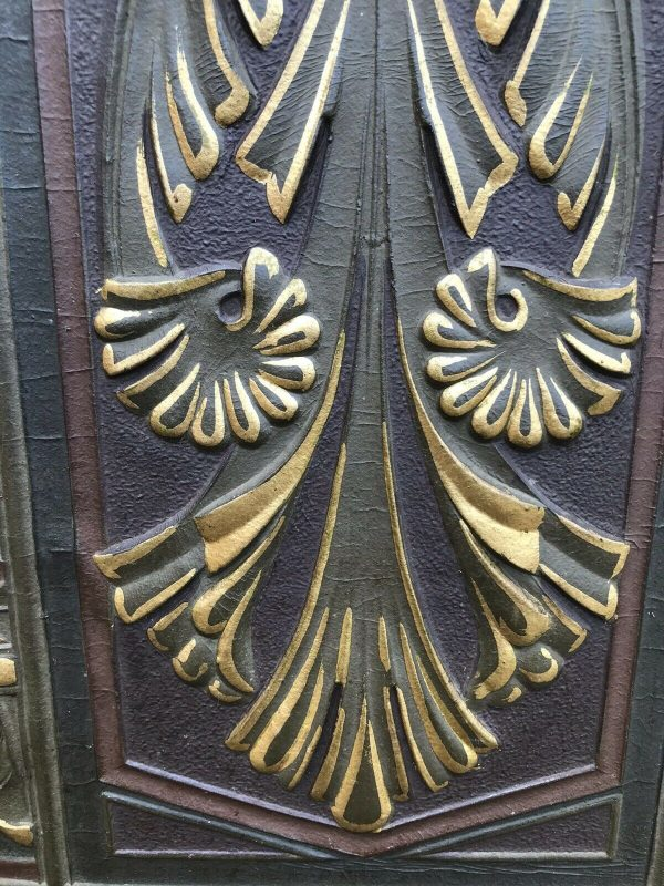 Fabulous-Art-Deco-Leather-Oak-And-gold-Screen-264849440221-7