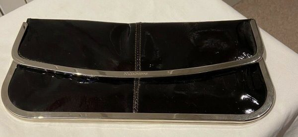 Ladies-Dolce-And-Gabbana-Black-Patent-Leather-Clutch-Bag-264883491971