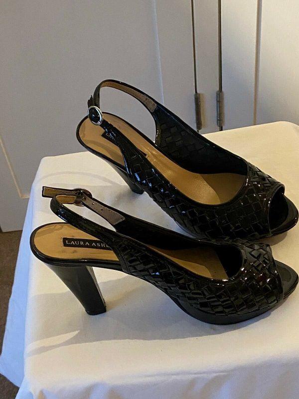 Laura-Ashley-Size-40-Patent-Slingbacks-383751326991-2