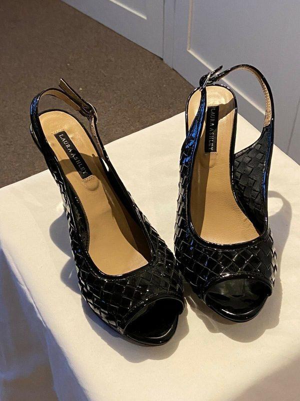 Laura-Ashley-Size-40-Patent-Slingbacks-383751326991