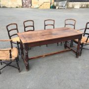 1800c-Rustic-Table-With-2-Drawers-383124570702-12