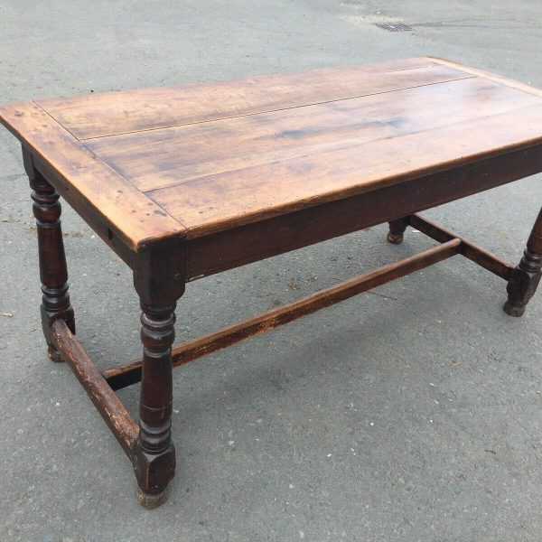1800c-Rustic-Table-With-2-Drawers-383124570702
