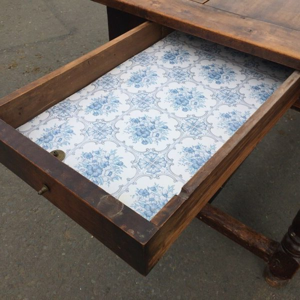 1800c-Rustic-Table-With-2-Drawers-383124570702-7
