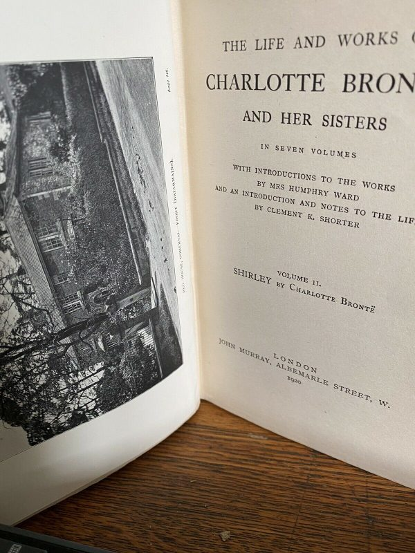 2-Volumes-Of-Charlotte-Bronte-Howarth-Edition-1920-Shirley-And-Wildfall-Hall-265228088072-6