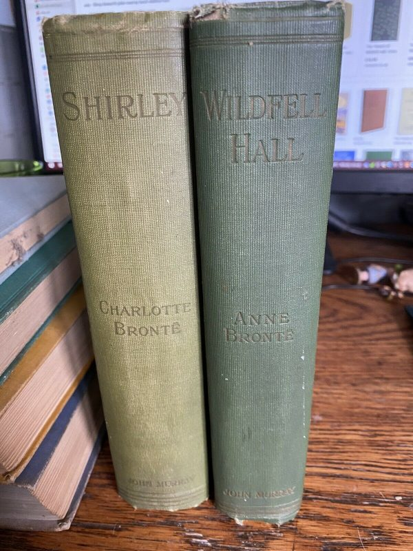 2-Volumes-Of-Charlotte-Bronte-Howarth-Edition-1920-Shirley-And-Wildfall-Hall-265228088072