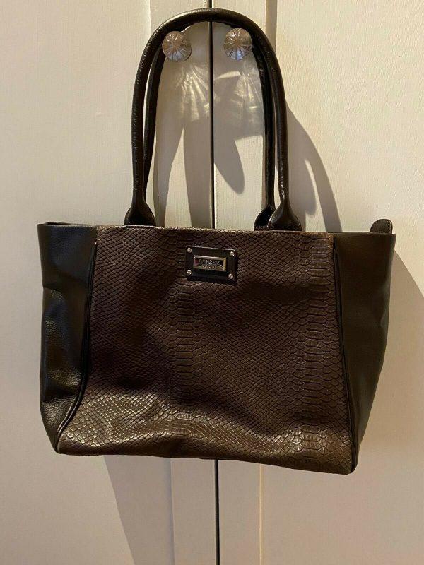 Osprey-Mock-Croc-Brown-Handbag-264882901283