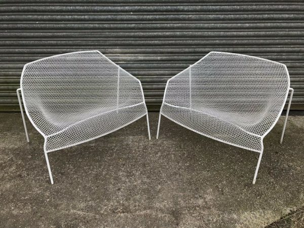 2-Vintage-1950s-Wire-Chairs-Russell-Woodard-265102596384