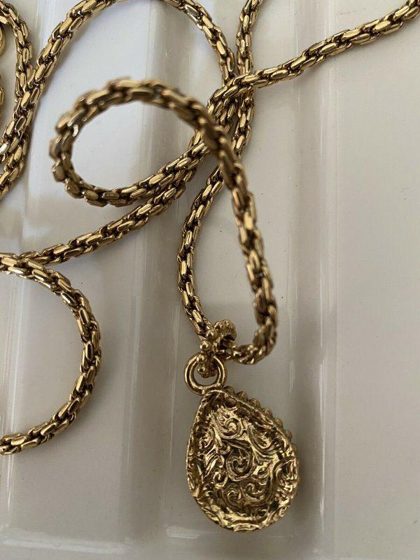 1928-Brand-Gold-Sprayed-Heavy-Amythistt-Drop-On-Chain-384080925145-2