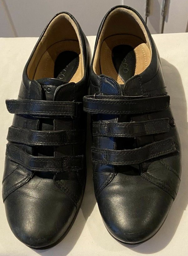 ECCO-fastening-flat-leather-shoes-Size-612-383747108215-3