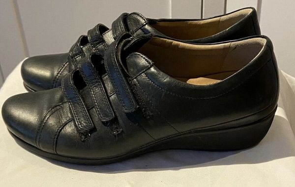 ECCO-fastening-flat-leather-shoes-Size-612-383747108215
