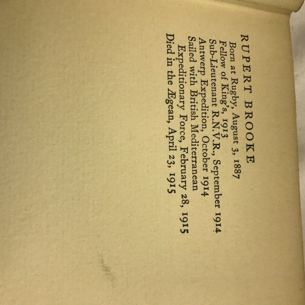 Rupert Brooke 1914and Other Poems Sedgewick 1923