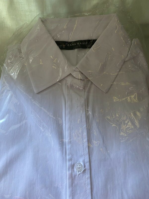 Zara-Basic-White-Ling-Skeeve-Shirt-Size-Small-383963234565
