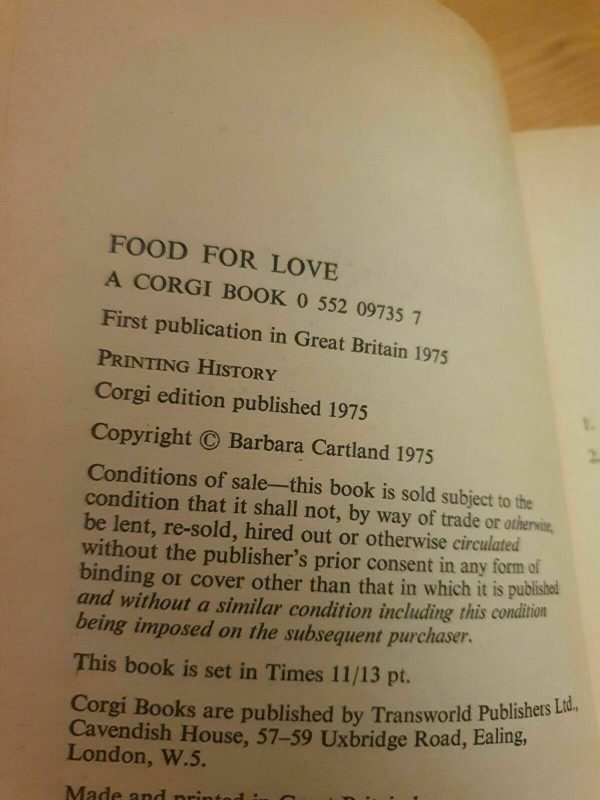 1975-Corgi-First-Edition-Barbara-Cartland-Food-For-Love-265188159036-3