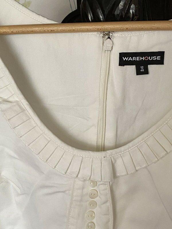 Warehouse-White-Dress-Size-12-383974942416-2