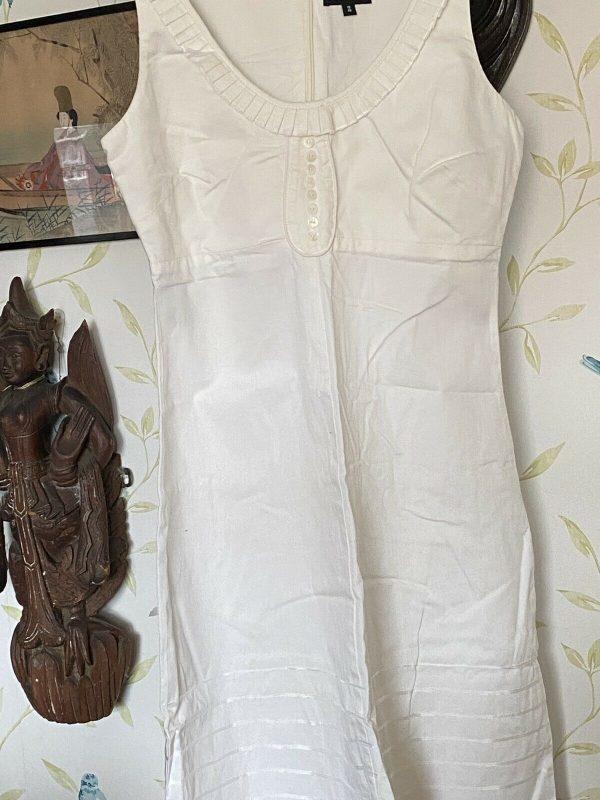 Warehouse-White-Dress-Size-12-383974942416