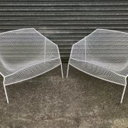 2-Vintage-1950s-Wire-Chairs-Russell-Woodard-264633228537