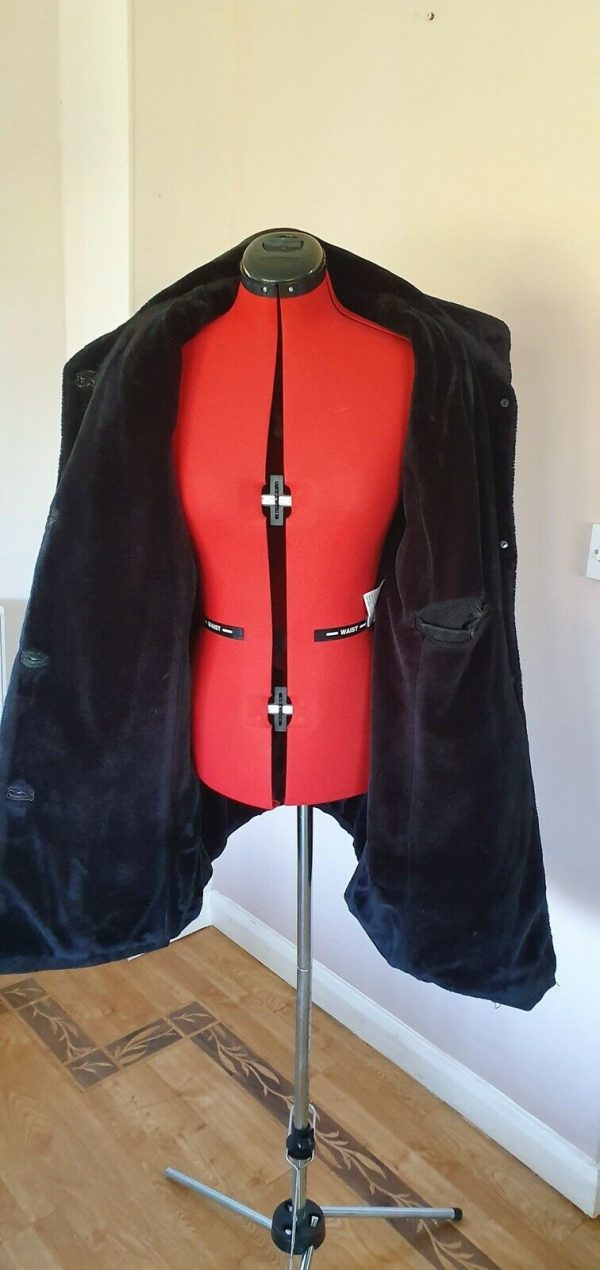 Black-suede-genuine-leather-Coat-Italian-size-16-383747529597-5