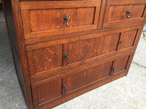 Heavy-Oak-Dressing-Table-Chest-Drawers-Made-From-Oak-Barrells-383033224017-9