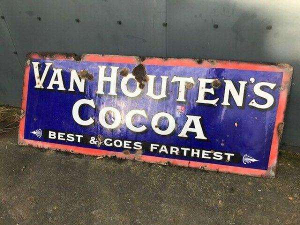 Very-Large-Van-Houten-Metal-Sign-Vintage-383303009087
