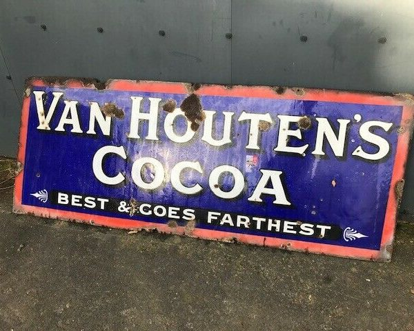 Very-Large-Van-Houten-Metal-Sign-Vintage-383303009087