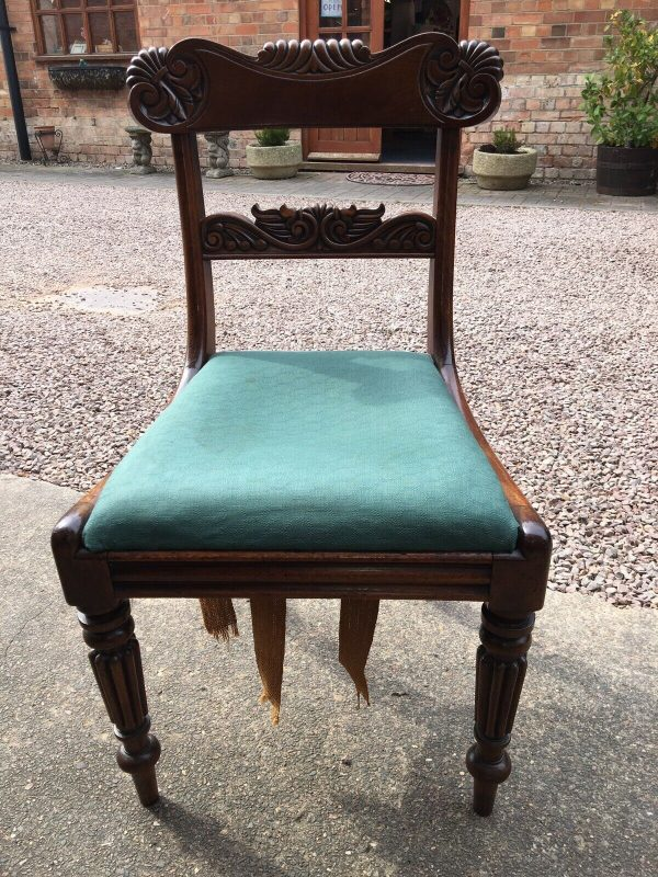 Pair-Mahogany-Regency-Carved-DinningHall-Chairs-264402130408-2