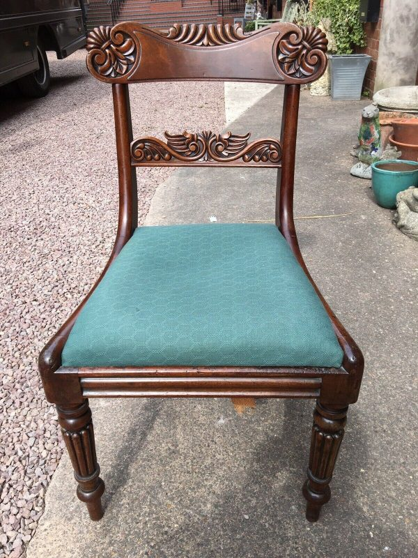 Pair-Mahogany-Regency-Carved-DinningHall-Chairs-264402130408-3