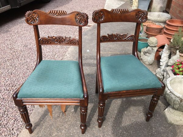 Pair-Mahogany-Regency-Carved-DinningHall-Chairs-264402130408