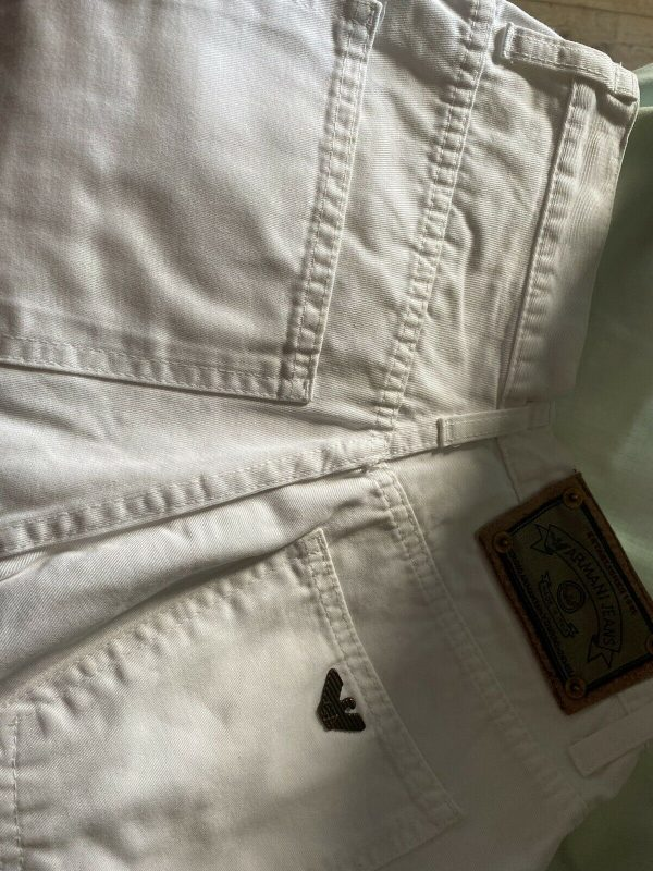 Armani-White-Jeans-Size-28-Waist-383963263629