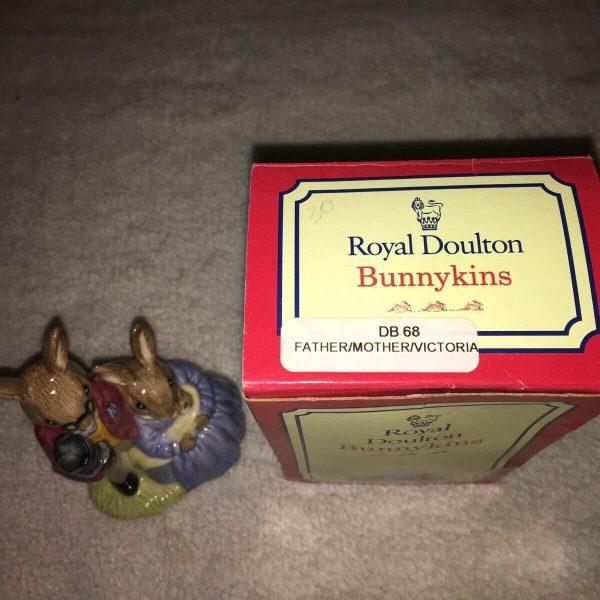Royal-Doulton-Bunnykins-Figurine-DB68-Mother-Father-Baby-264346493989-4
