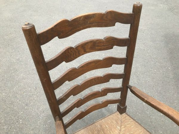 Rush-Seated-Vintage-Armed-Chair-264849514059-5